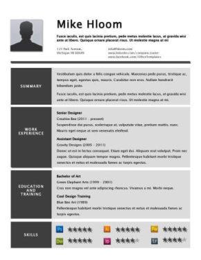 Concrete Resume Template