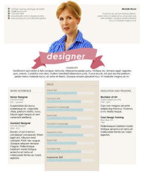 Headshot Resume Template