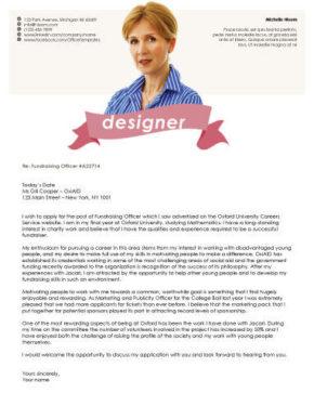 Headshot cover letter