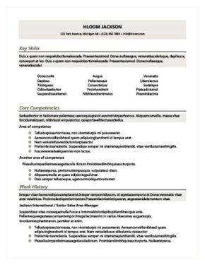 Modello di curriculum con sfumature di colore grigio