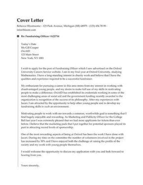 Checkmark Timeline cover letter