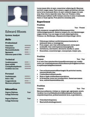Plantilla de CV de cartel