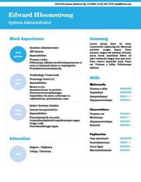 Bright Blue Resume Template