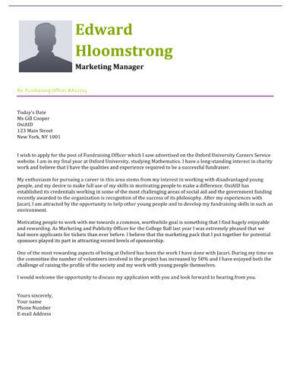 Springing cover letter