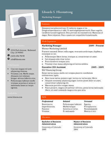 Artistic Flyer Resume Template