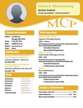 Orange Blossom Resume Template