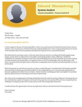 Orange Blossom cover letter