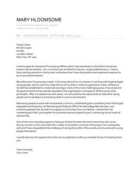 Split Page cover letter