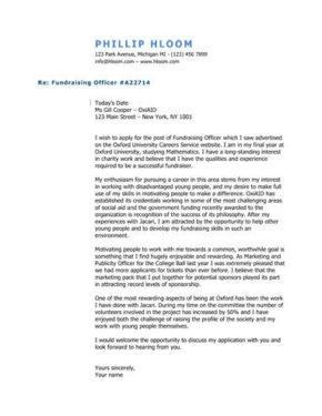 Industry Lifer cover letter