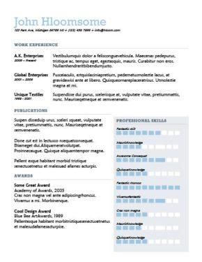 Texture Resume Template