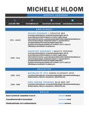Plantilla de CV con gráficos