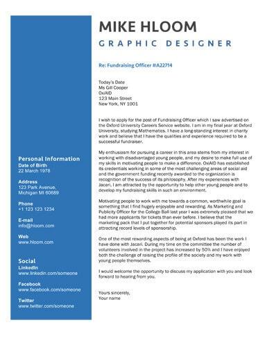Blue Pop cover letter