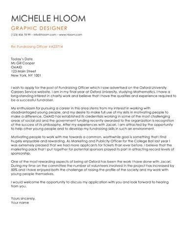 Stately cover letter