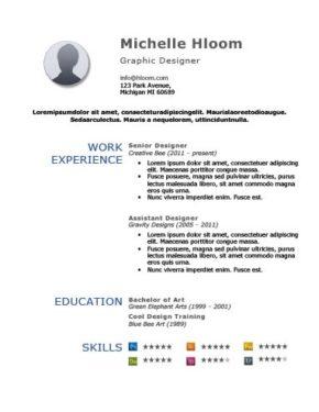 Bold Simplicity Resume Template
