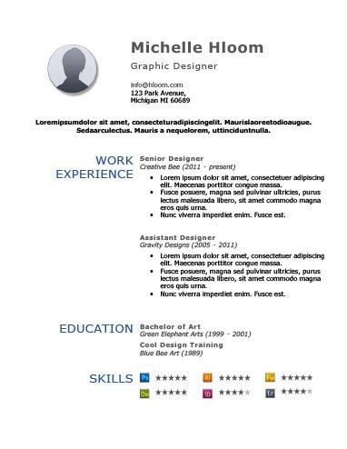 Modèle de CV de simplicité audacieuse