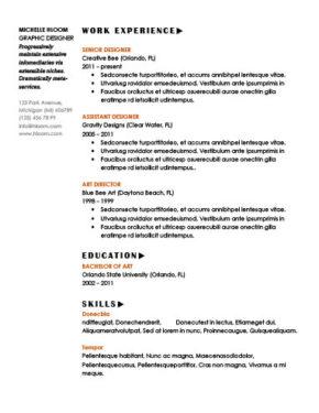 Striking Resume Template