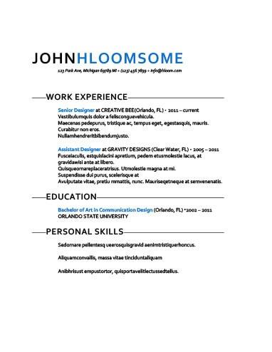 Fresh Take Resume Template
