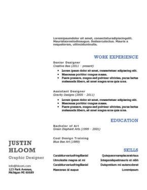 Inverse Resume Template