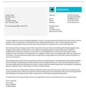 Leaflet cover letter