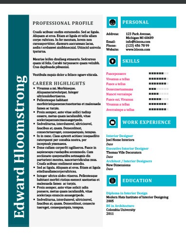 Leaflet Resume Template