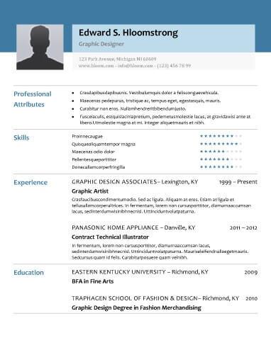 8 free openoffice resume templates ott format - Openoffice Resume Template