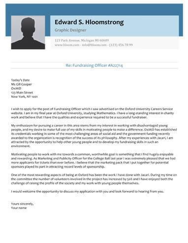 Glimmer cover letter