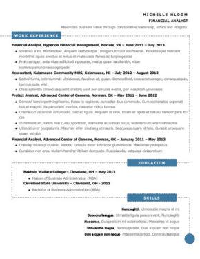 Modèle de CV Schéma