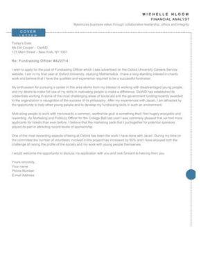 Schema cover letter