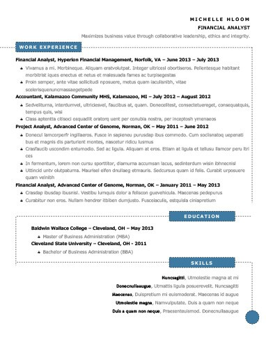 Modern resume templates 64 examples free download schema resume template altavistaventures Images