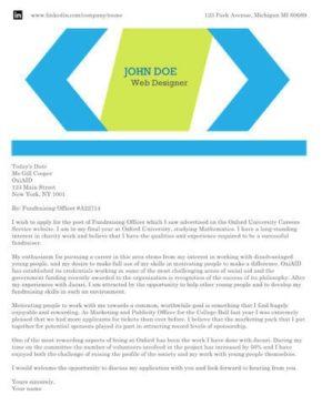 Bold Chevrons cover letter