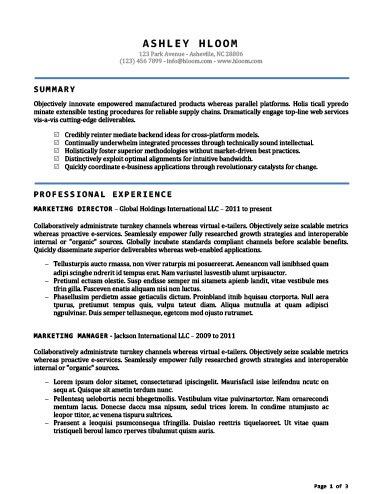 Accomplished Resume Template