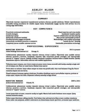 seasoned resume template