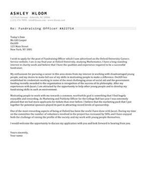 Headliners List cover letter