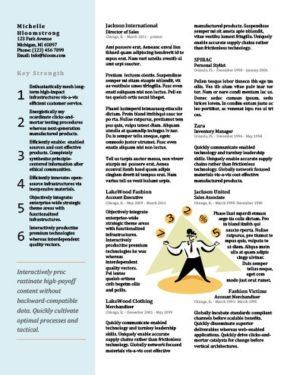 Modello di curriculum Multitasking