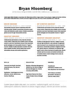 Plantilla de CV de fundación