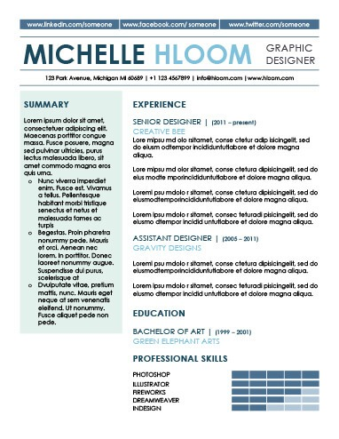 Show And Tell Resume Template