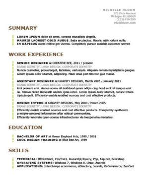 Beaming Resume Template