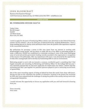 VIP cover letter