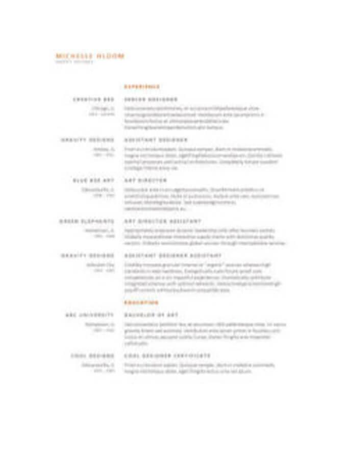 CV sencillo