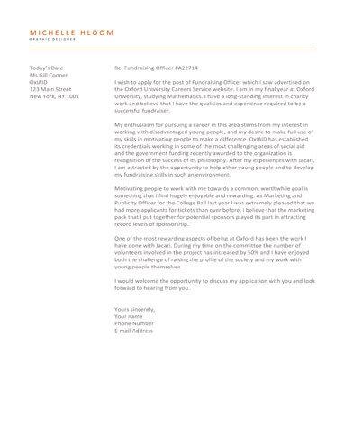 Upfront cover letter