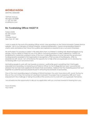 Spirited Professional cover letter