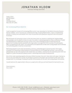 Tablet cover letter