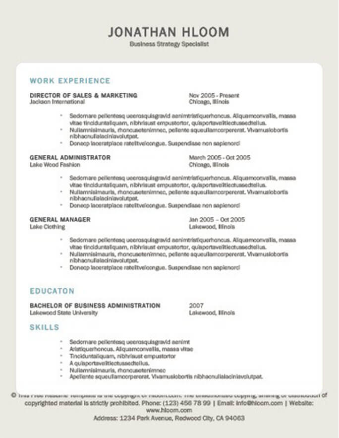 Tablet Resume Template
