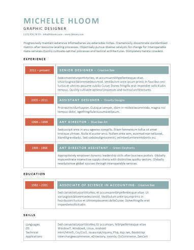 Modern Resume 60 Free Templates Writing Guide Hloom
