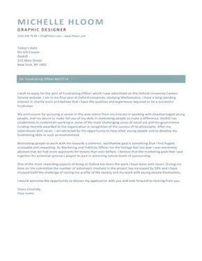 Vibrant cover letter