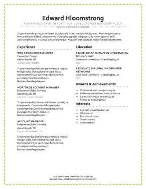 Plantilla de CV de presentación