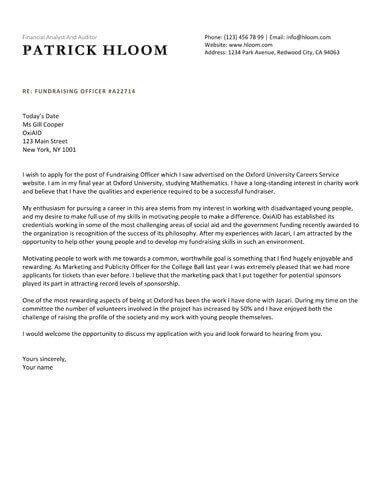 Economic cover letter