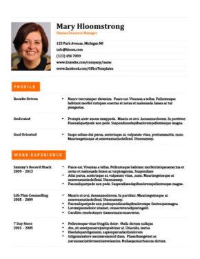 Professional Orange Resume Template
