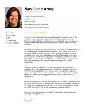 Professional Orange cover letter