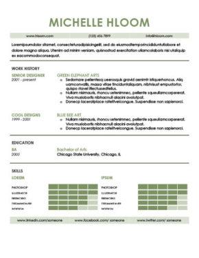Plantilla de CV con habilidades